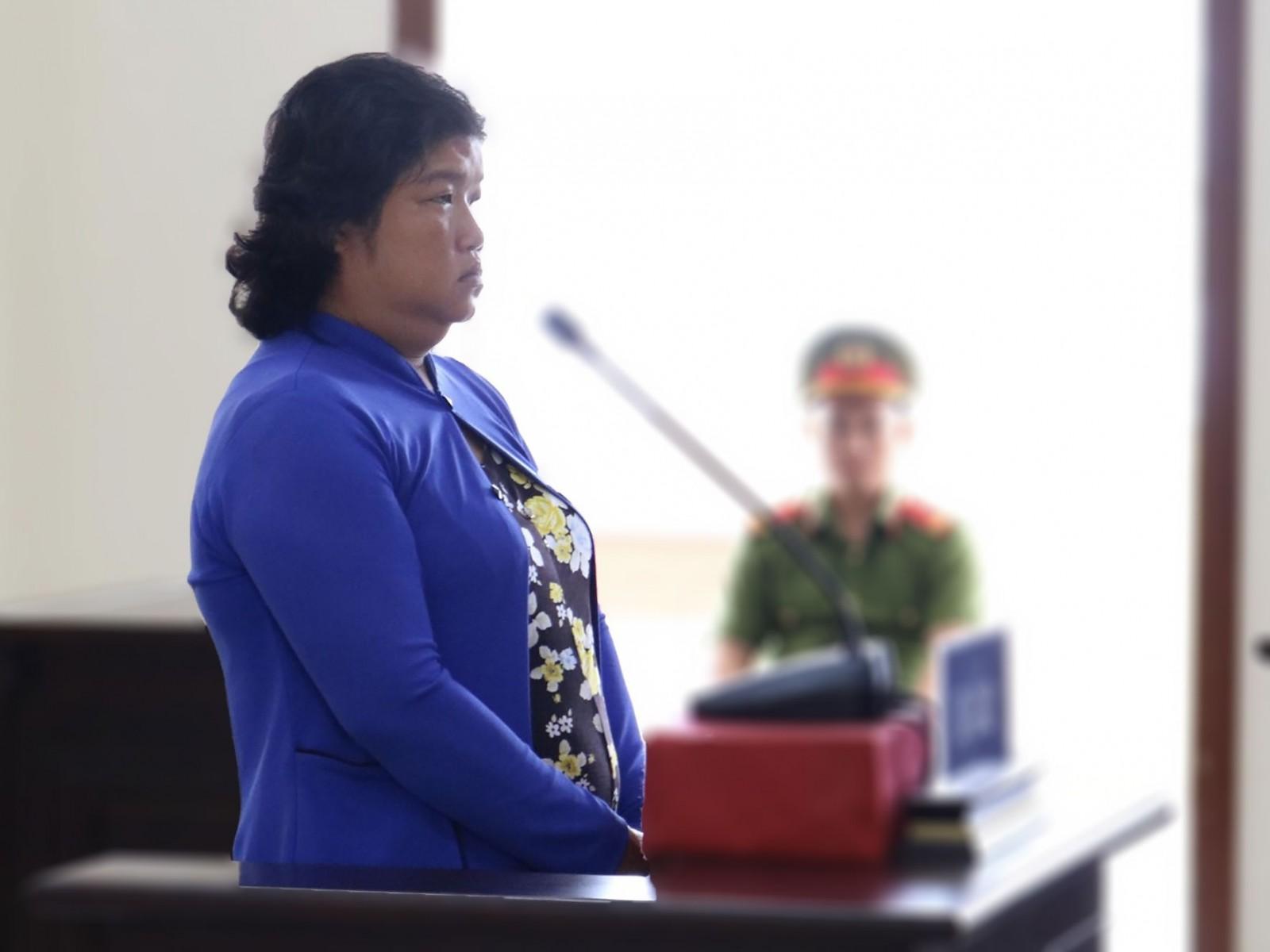 Lư Thị Thu Sương tại phiên tòa phúc thẩm.