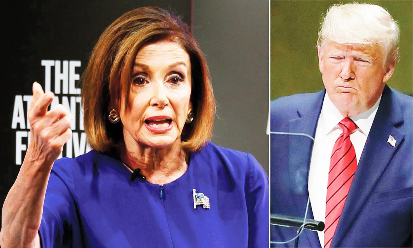 Chủ tịch Hạ viện Pelosi đang gây khó cho Tổng thống Trump. Ảnh: Daily Mail