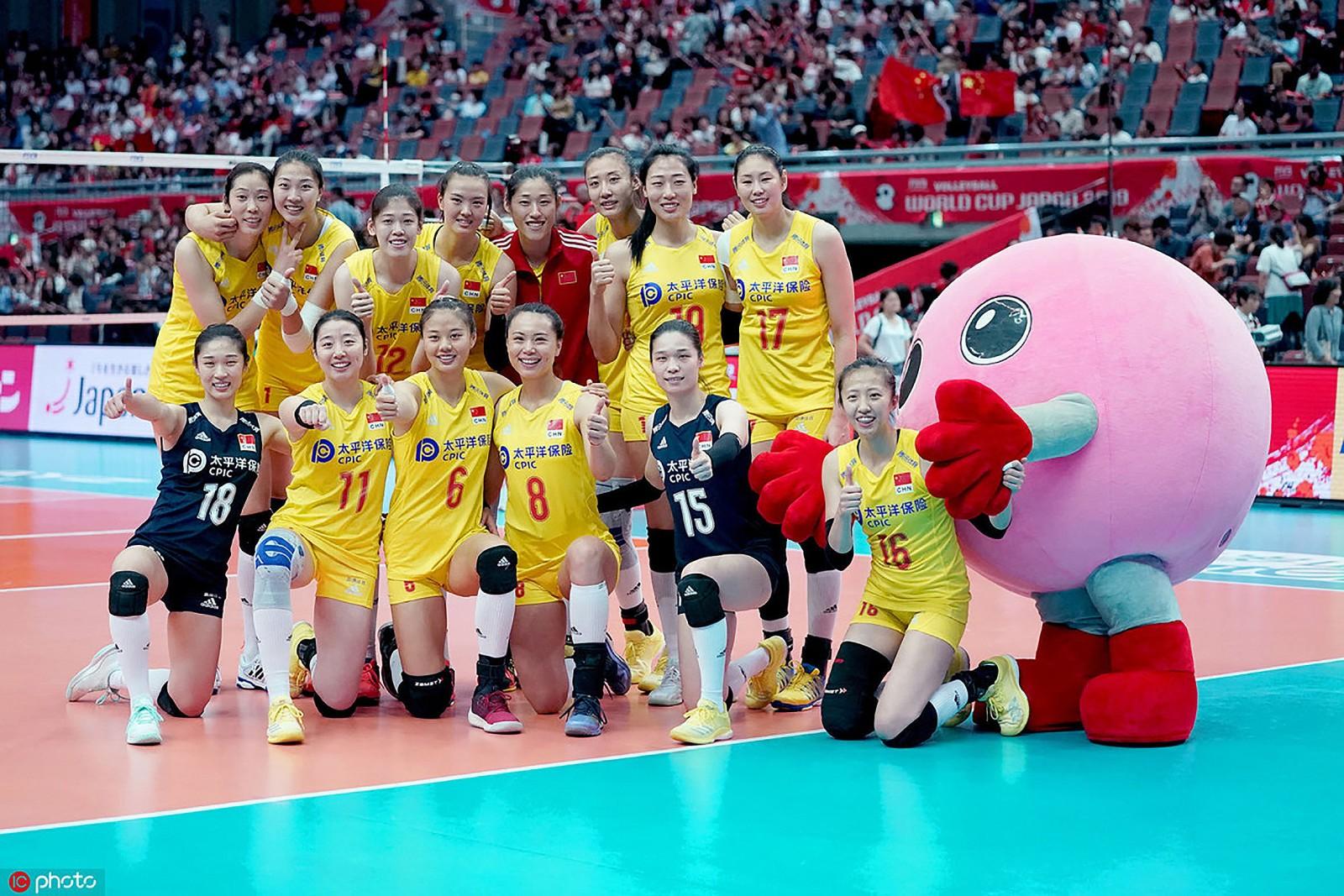 Các cô gái Trung Quốc vô địch thế giới năm 2019.
