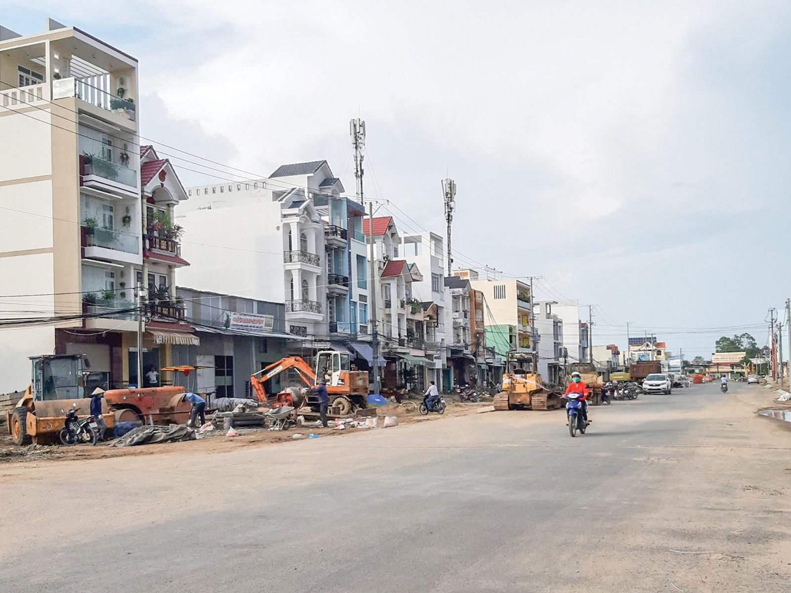 Công trình đường nối từ Cách Mạng Tháng Tám đến đường tỉnh 918.