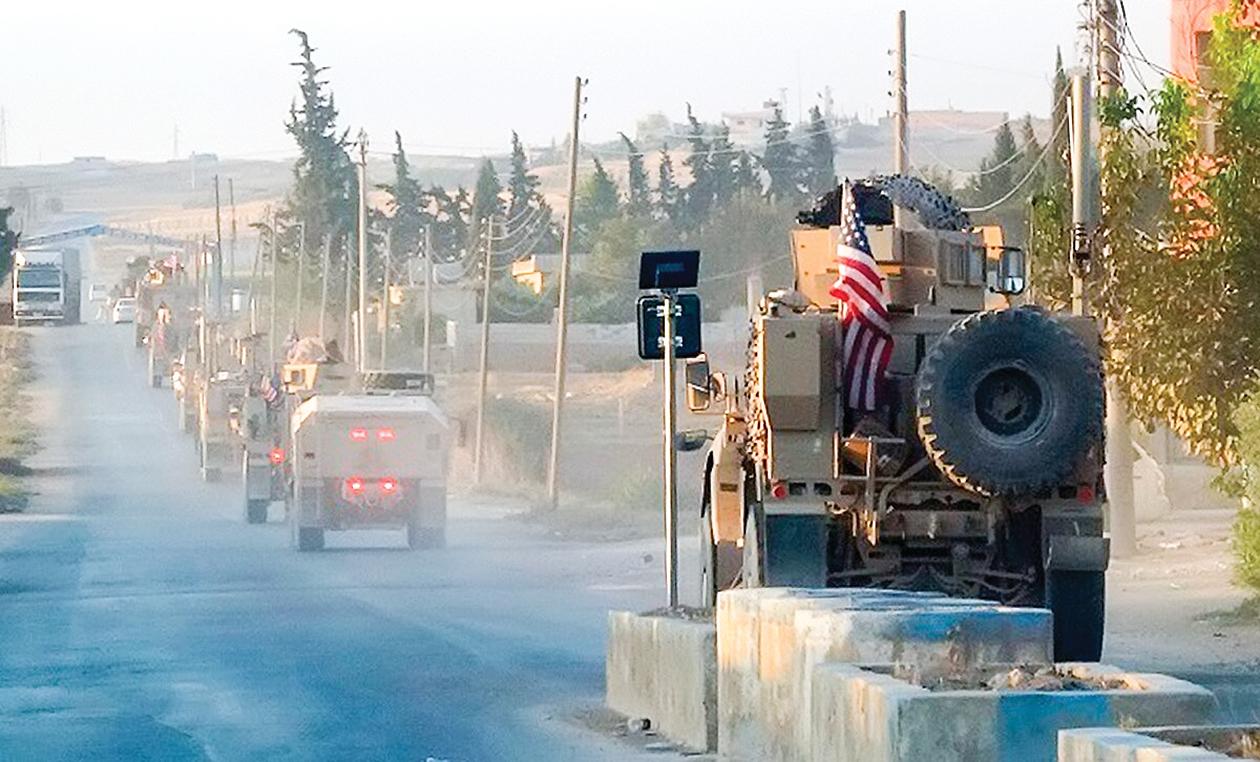 Lực lượng Mỹ tại vùng Đông Bắc Syria bắt đầu rút quân từ hôm 7-10. Ảnh: AP