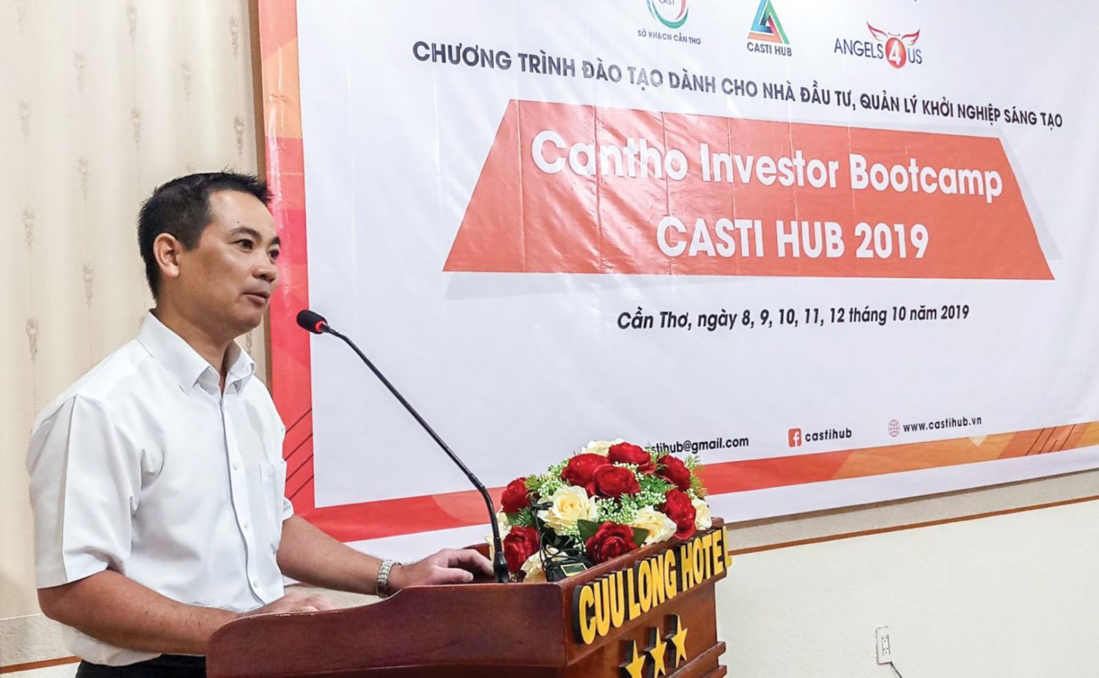 Ông Vũ Minh Hải, Giám đốc Trung tâm Thông tin khoa học và công nghệ, Sở Khoa học và Công nghệ TP Cần Thơ phát biểu.