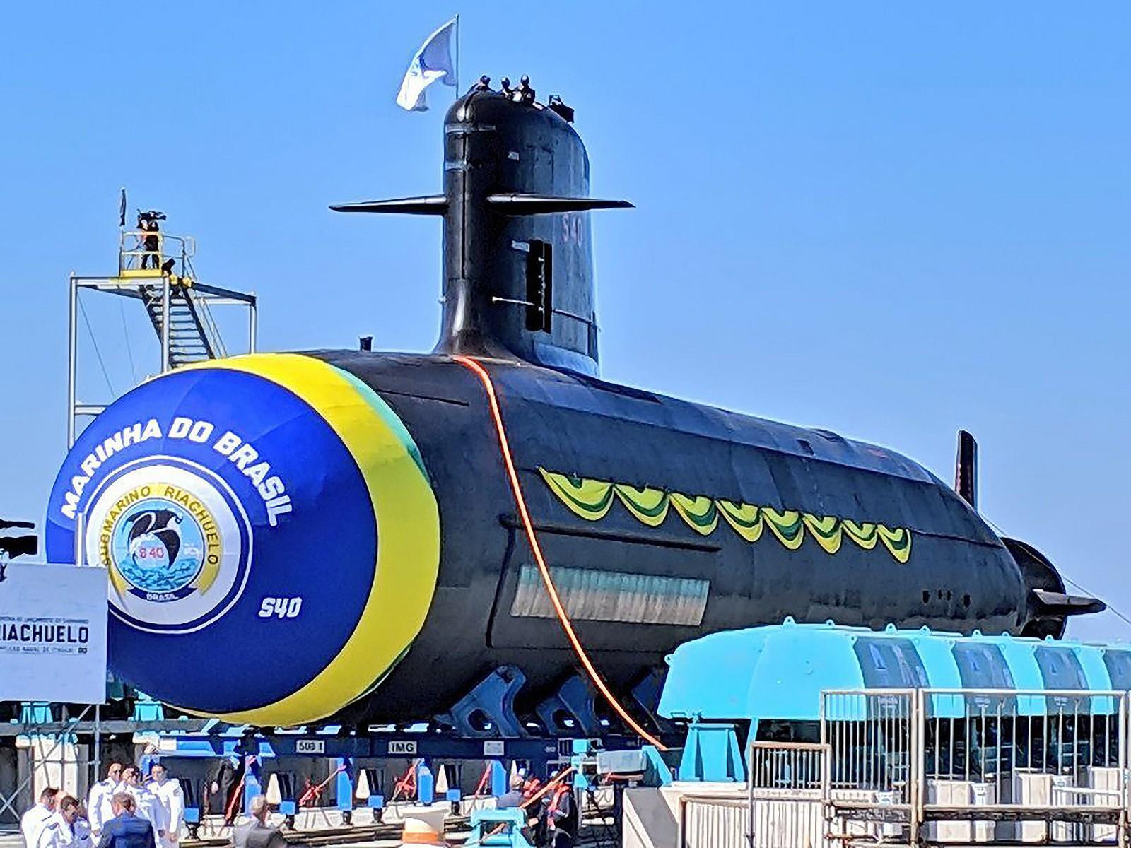 Tàu ngầm Riachuelo lớp Scorpene của Brazil. Ảnh: Naval News