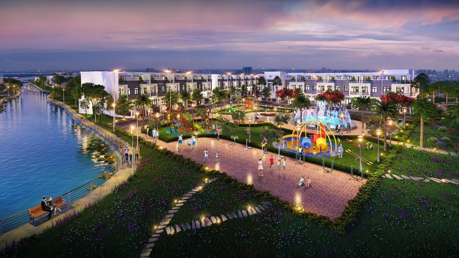 Nhà phố xây sẵn tại khu đô thị Thành Đô có mức giá khoảng 2,2 tỷ căn (1 trệt 2 lầu) với tổng diện tích lên đến 150m2 sàn.