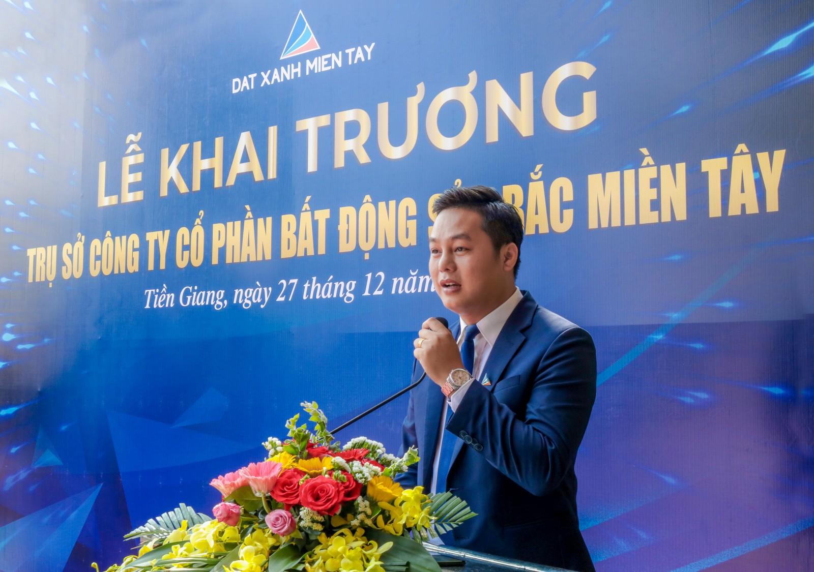 Tổng giám đốc Bắc Miền Tây - Đất Xanh Miền Tây, ông Nguyễn Minh Bảo khẳng định: Bắc Miền Tây sẽ kế thừa giá trị tốt đẹp từ công ty mẹ để trở thành doanh nghiệp BĐS uy tín hàng đầu tại Tiền Giang và ĐBSCL