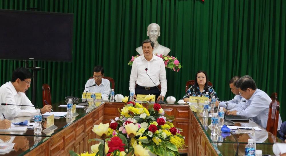 Đồng chíPhạm Văn Hiểu, Phó Bí thư Thường trực Thành ủy, Chủ tịch HĐND thành phố, phát biểu chỉ đạo.Ảnh: H.HOA