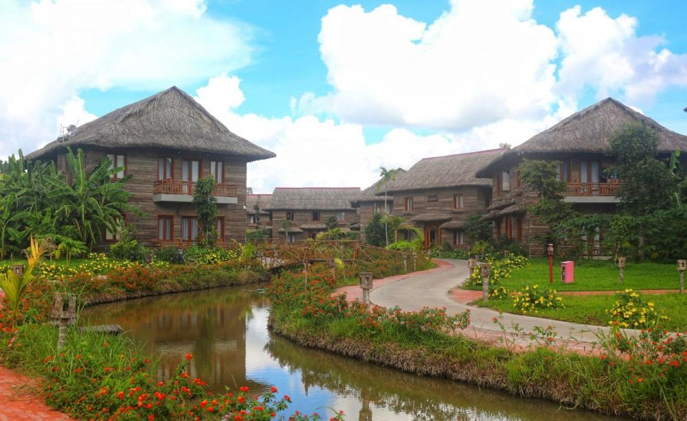 Một góc khu nghỉ dưỡng sinh thái Can Tho Ecolodge.