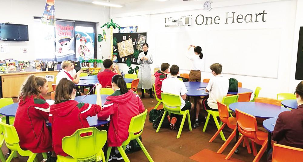 Một lớp học tại Viện Khổng Tử ở Đại học Queenland. Ảnh: University of Queensland