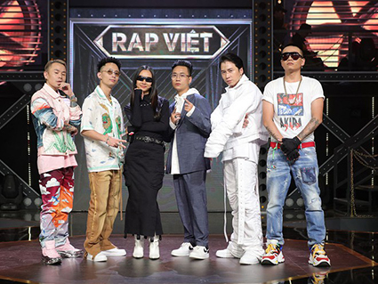 """Huấn luyện viên và giám khảo của chương trình """"Rap Việt""""."""