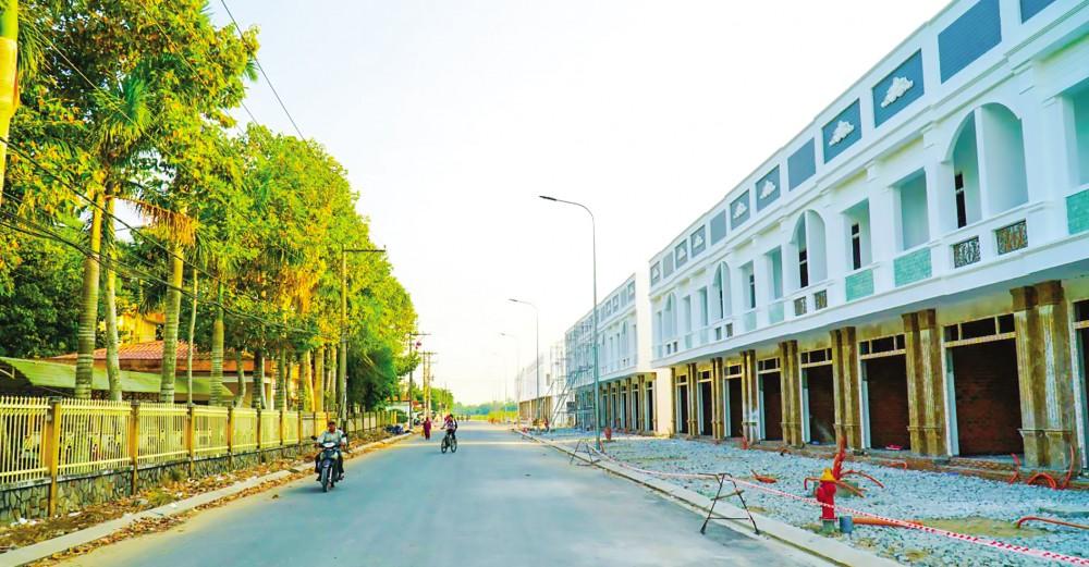 Khu đô thị mới huyện Thới Lai đang hình thành.