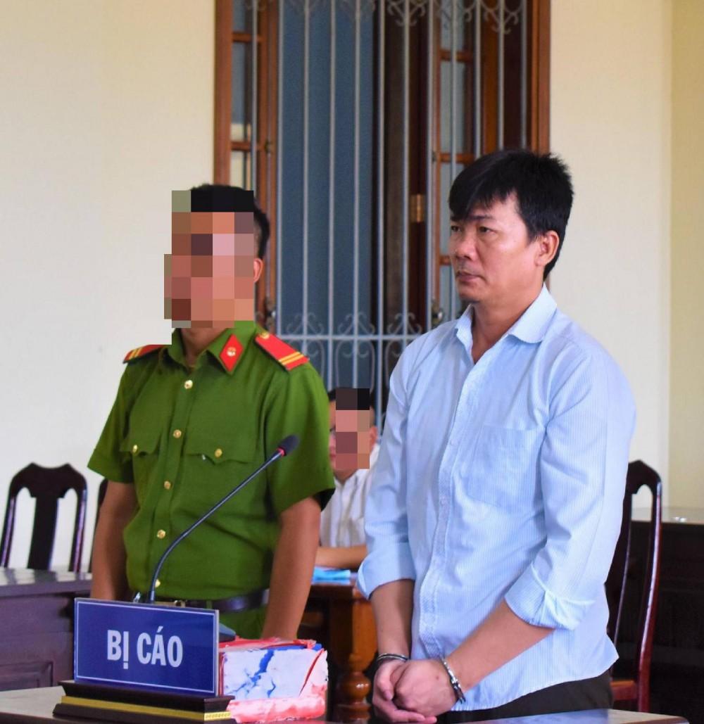 Dương Minh Cường tại phiên tòa.