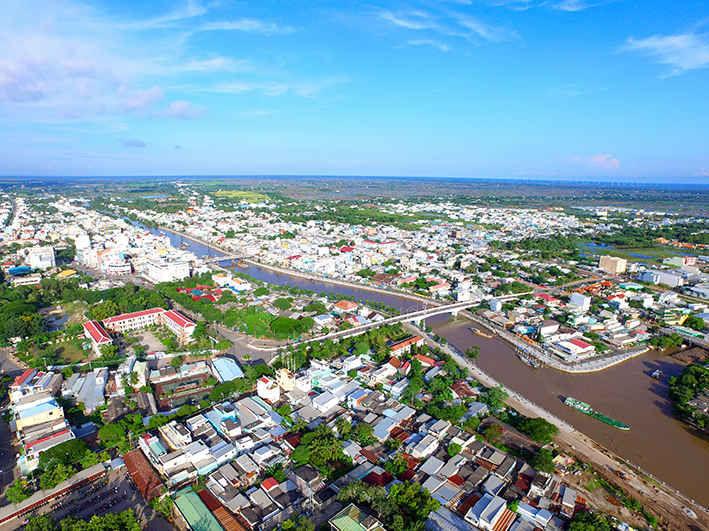 Bạc Liêu đang trên con đường thực hiện mục tiêu trở thành một trong những trung tâm kinh tế quan trọng của vùng Đồng bằng sông Cửu Long. Nguồn: Ảnh Internet.