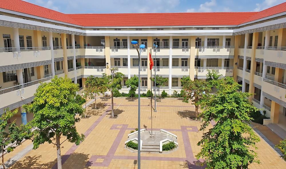 Một góc Trường THCS An Khánh, quận Ninh Kiều.
