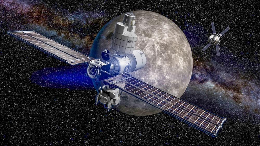 Mô hình trạm không gian Gateway.