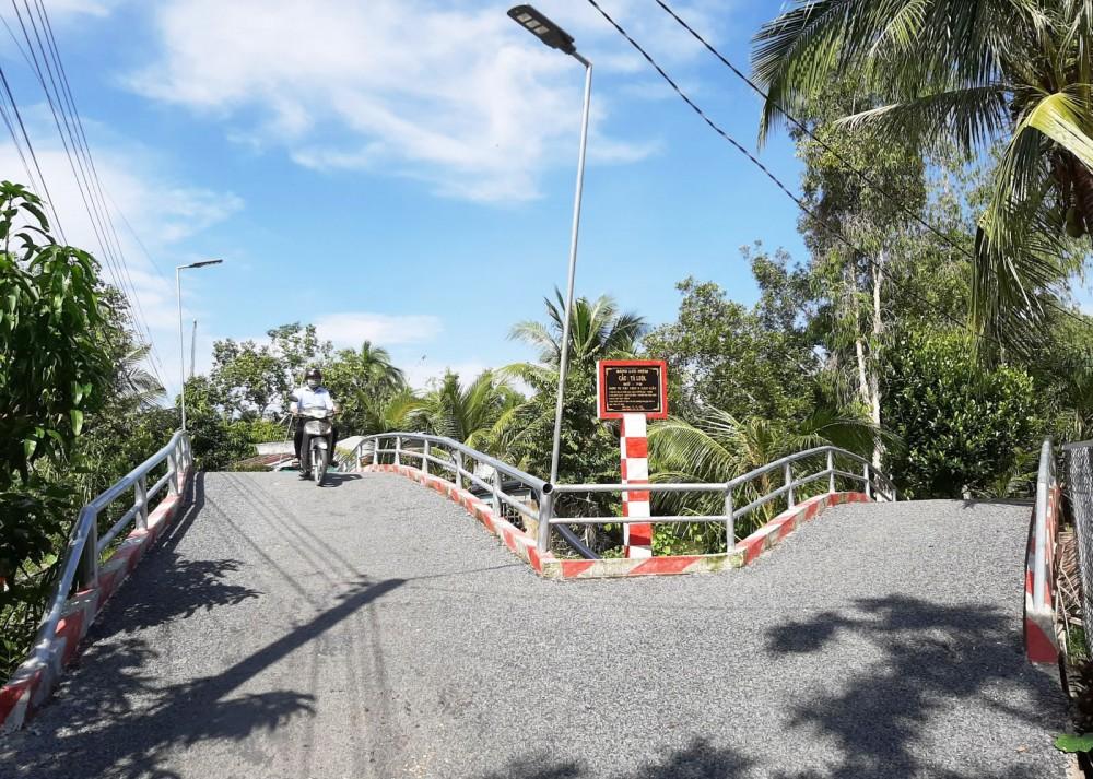 Nhiều cây cầu ở xã Xuân Thắng được xây dựng vững chắc giúp việc lưu thông an toàn.