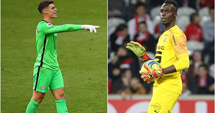 Mendy (phải) có thể mang đến cảm giác yên tâm cho CĐV Chelsea nhiều hơn so với Kepa (trái). Ảnh: Daily Mail