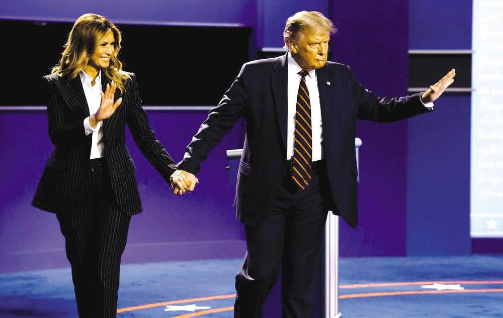 Vợ chồng Tổng thống Trump. Ảnh: Reuters