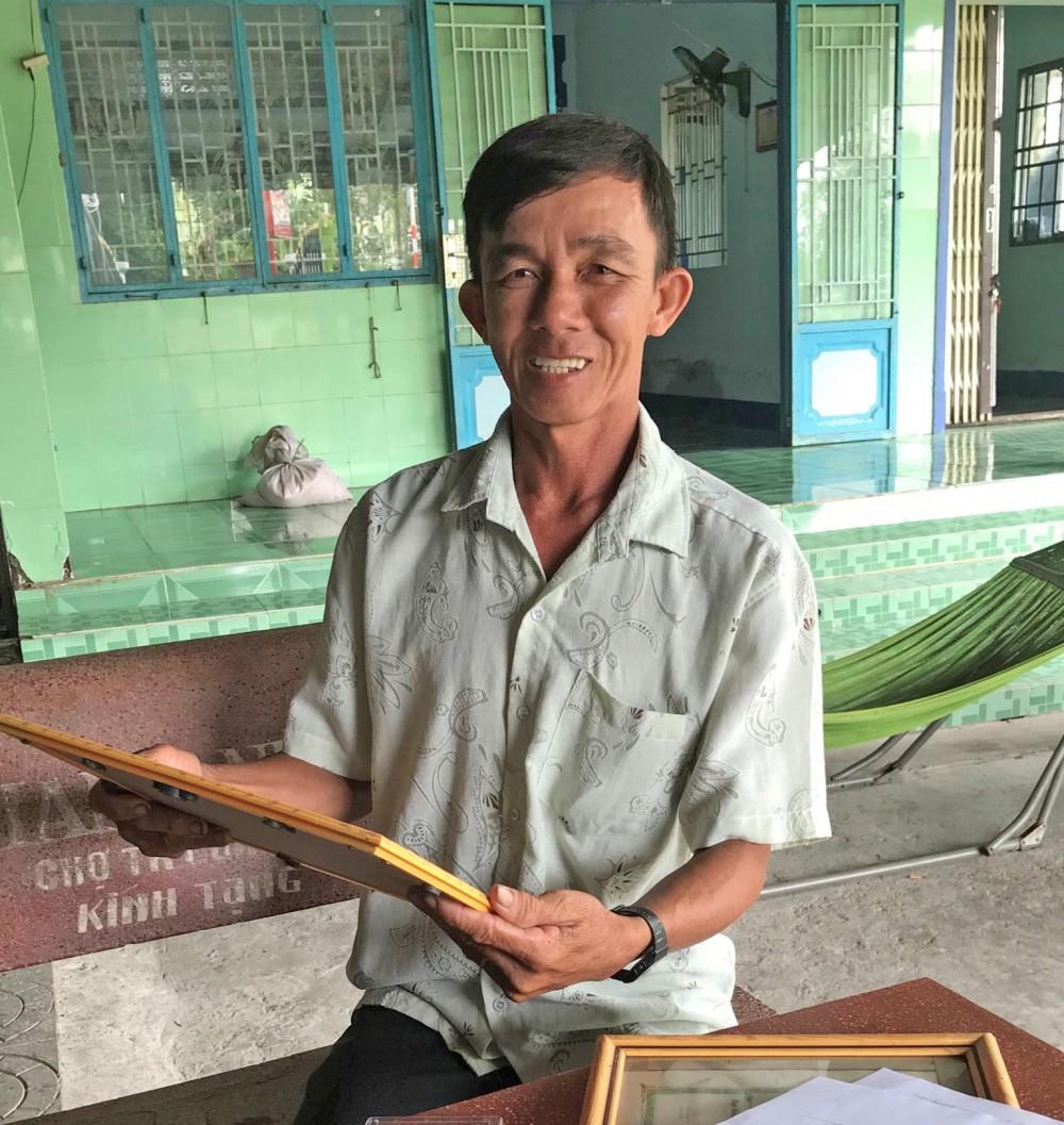 Anh Trần Hoàng Vũ có nhiều đóng góp trong công tác giữ gìn ANTT địa phương.