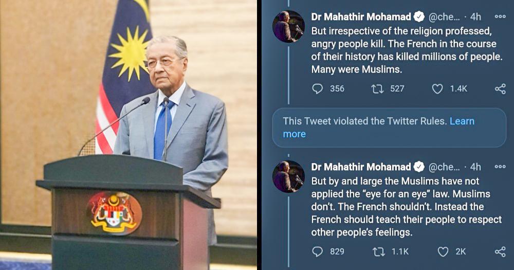 Ông Mahathir, 95 tuổi, thường có những bình luận gây tranh cãi.