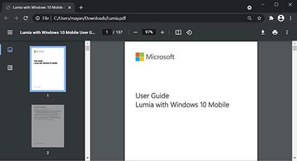 Giao diện của công cụ xem PDF mới của Chrome. Ảnh: Bleeping Computer