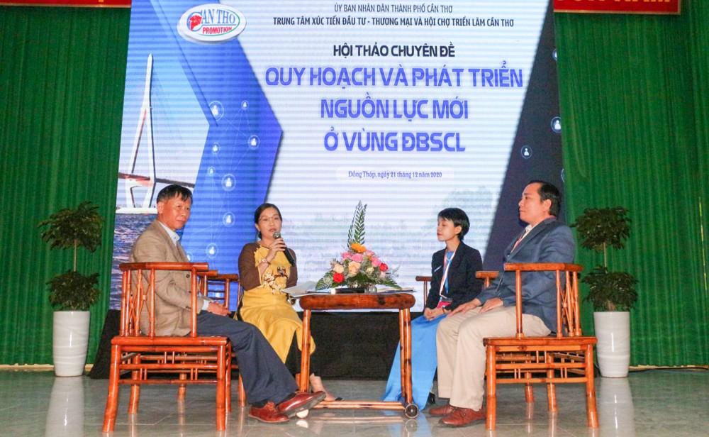 Các chuyên gia tham gia bàn tròn tại phiên thảo luận do TP Cần Thơ chủ trì tại Diễn đàn Mekong Connect 2020.