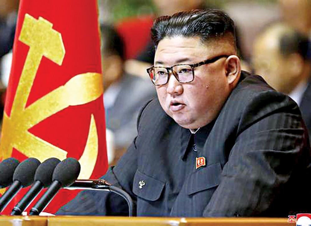 Chủ tịch Kim tại đại hội. Ảnh: Reuters