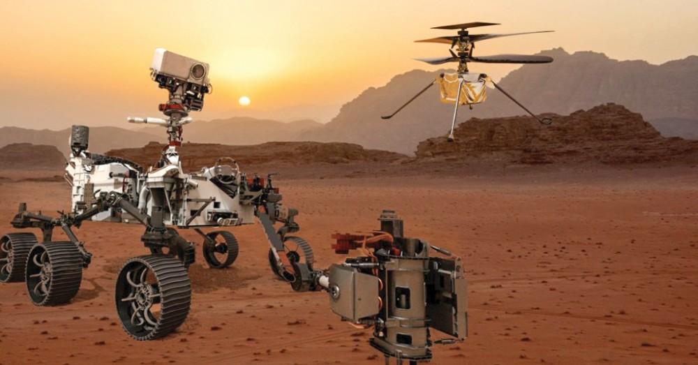 Nhờ được trang bị hai microphone, xe tự hành Perseverance của Mỹ có thể giúp con người lần đầu tiên nghe âm thanh trên sao Hỏa. Ảnh: shasthrasnehi