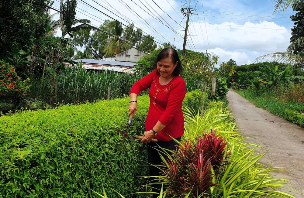Các hộ gia đình giáo dân xã Thạnh An, huyện Vĩnh Thạnh tích cực tham gia bảo vệ môi trường, xây dựng cảnh quan sáng, xanh, sạch, đẹp.
