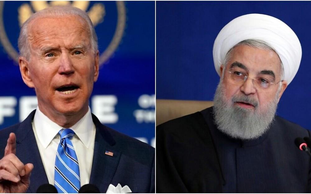Tổng thống Mỹ Biden (trái) và người đồng cấp Iran Hassan Rouhani. Ảnh: AP