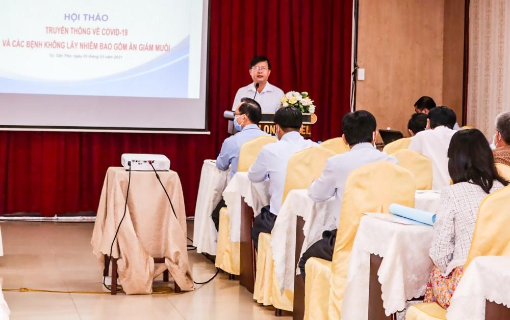 Bác sĩ Huỳnh Minh Trúc đề nghị tăng cường lồng ghép tuyên truyền giảm ăn muối trong các cuộc họp, sinh hoạt...