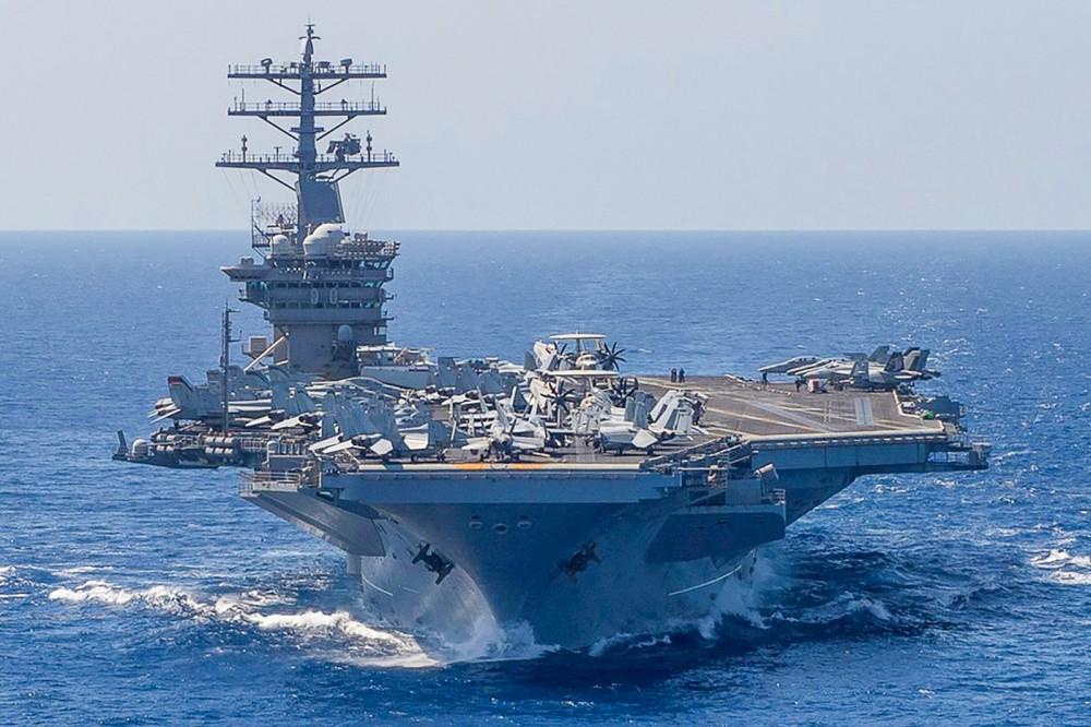 Tàu sân bay USS Nimitz được Mỹ điều động từ Trung Đông đến khu vực Ấn Độ Dương - Thái Bình Dương. Ảnh: Reuters