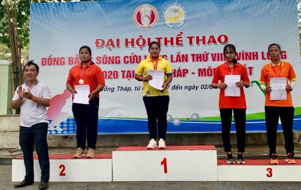 Bi thủ Thạch Thị Ánh Lan đoạt HCV tại Đại hội Thể thao ĐBSCL lần thứ VIII năm 2020.