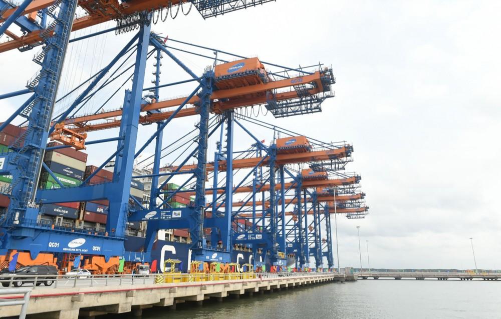 Cảng Gemalink đưa vào khai thác với công suất giai đoạn 1 là 1,5 triệu Teus/năm. Ảnh: VGP/QUANG HIẾU