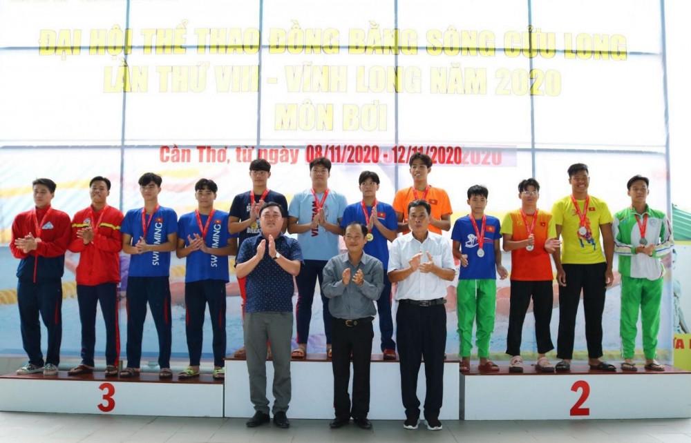 Các VĐV Long An đoạt HCV tại Đại hội Thể thao ĐBSCL lần thứ VIII năm 2020.