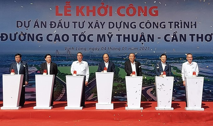 Dự án đường cao tốc Mỹ Thuận – Cần Thơ chính thức khởi công.