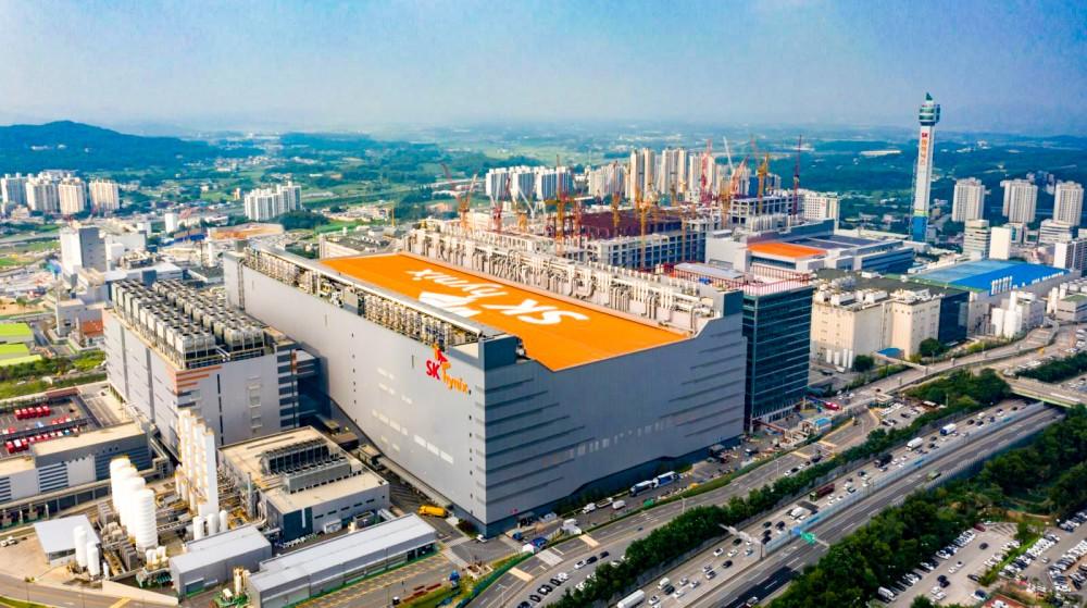 Xưởng sản xuất M14 của Công ty SK Hynix. Ảnh: Bloomberg