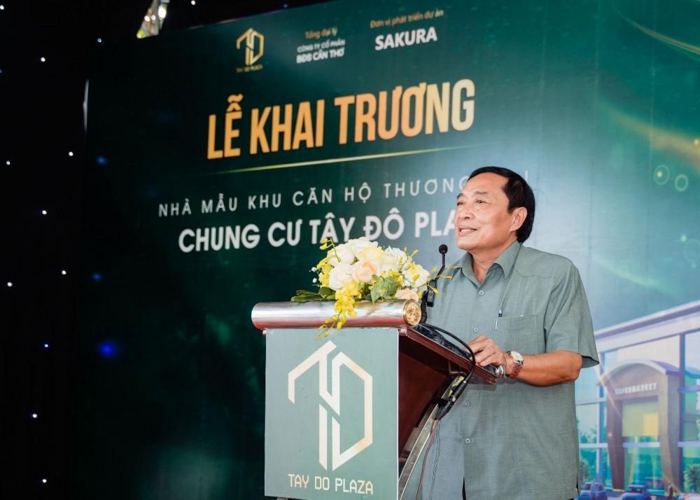 Ông Huỳnh Văn Mơ – Phó chủ tịch Hội Đông Nhân Dân huyện Châu Thành A đến tham dự và gửi lời chúc mừng đến dự án.