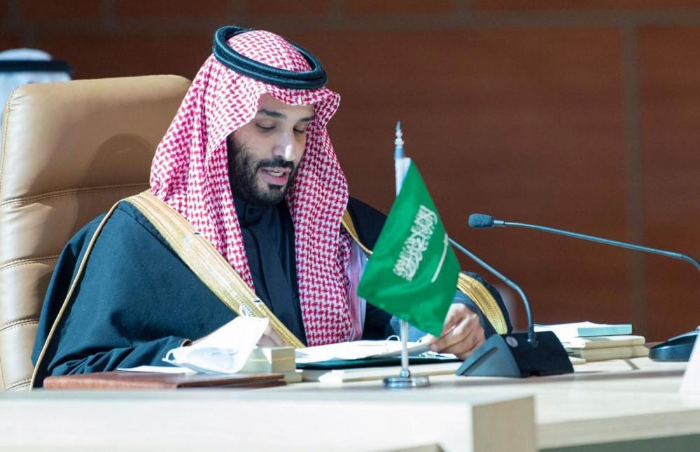 Thái tử Salman trong buổi công bố sáng kiến hôm 27-3. Ảnh: Pokharanews