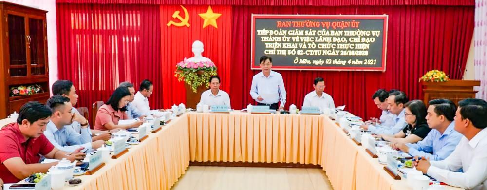 Ông Nguyễn Xuân Hải, Phó Chủ tịch Thường trực HĐND thành phố phát biểu kết luận buổi giám sát.