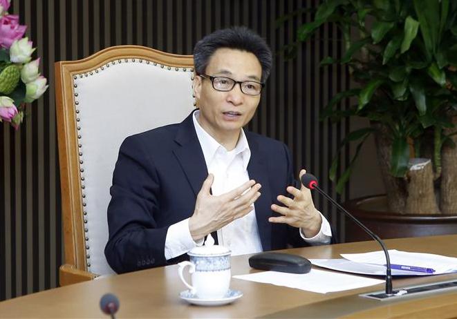 Phó Thủ tướng Chính phủ Vũ Đức Đam phát biểu. Ảnh: Phạm Kiên - TTXVN