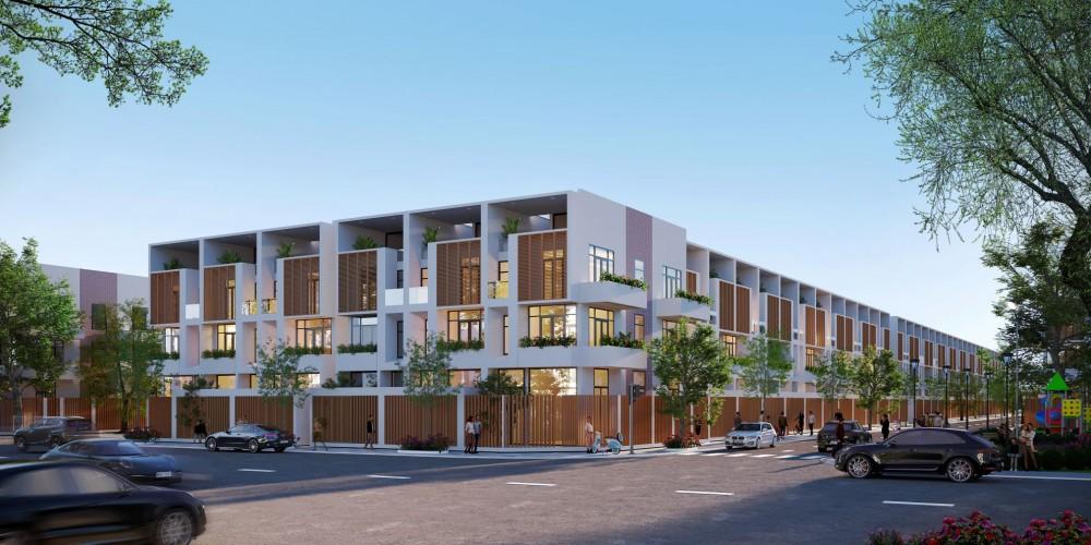 Các mẫu nhà phố thiết kế hiện đại đa công năng tối ưu an cư và kinh doanh tại gia đồng thời cũng là nơi nghỉ dưỡng lí tưởng cho cư dân Vạn Phát Sông Hậu.
