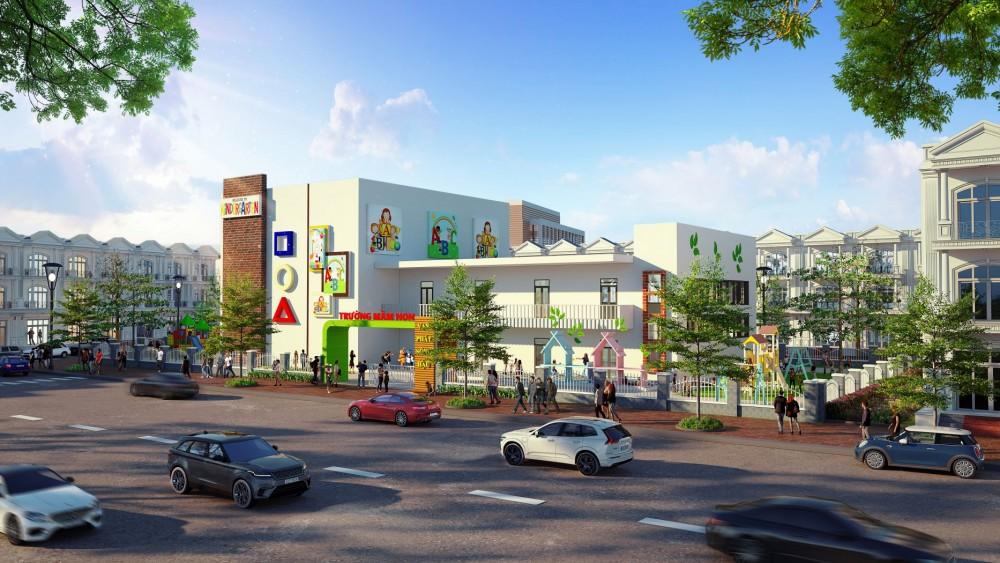 Dự án có trường mầm non và hai công viên vui chơi giải trí, phù hợp với các cặp gia đình trẻ.