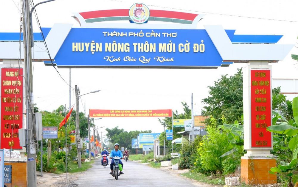 Diện mạo huyện NTM Cờ Đỏ.