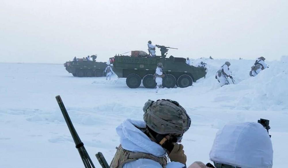Binh sĩ Mỹ trong cuộc tập trận Sói Bắc Cực. Ảnh: US Army