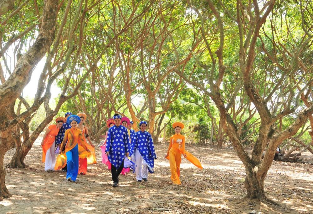 Vườn nhãn cổ Bạc Liêu thu hút đông du khách tham quan, trải nghiệm. Ảnh: HỮU THỌ