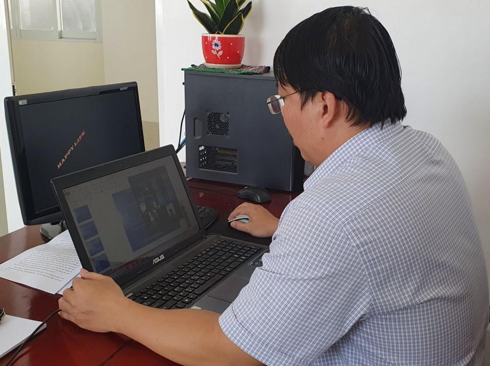 Một buổi học và ôn tập trực tuyến của thầy trò Trường Cao đẳng Kinh tế - Kỹ thuật Cần Thơ. Ảnh: B.NG