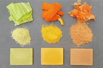 Lá bắp cải, vỏ cam hay vỏ hành tây đều có thể được tái chế thành vật liệu xây dựng.