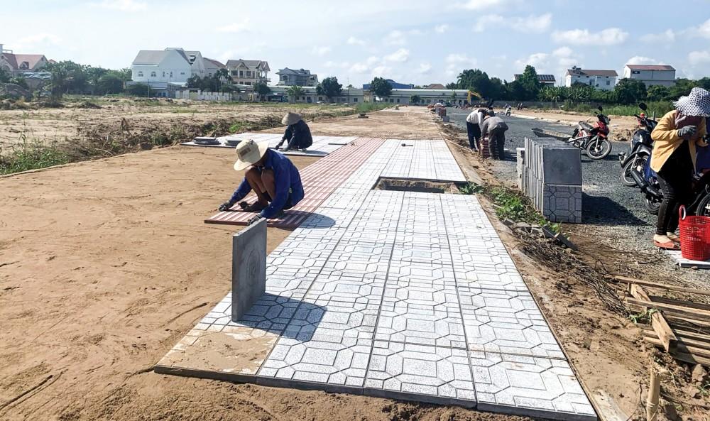 Khu đô thị Goldland Cồn Khương đang được chủ đầu tư đẩy nhanh tiến độ hoàn thiện cơ sở hạ tầng.