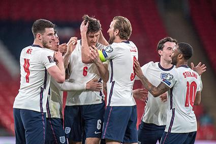 Các cầu thủ Anh đang tràn trề hy vọng quật ngã Croatia tại giải đấu lớn như EURO. Ảnh: getty