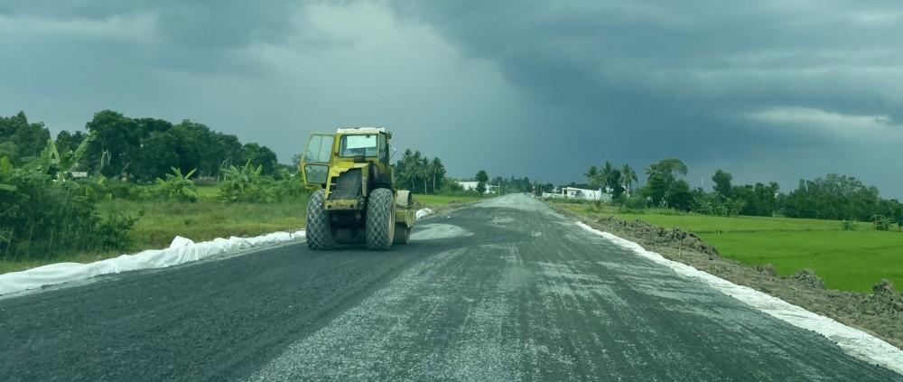 Công trình đường tỉnh 922 trên địa bàn quận Ô Môn. Ảnh: T. TRINH